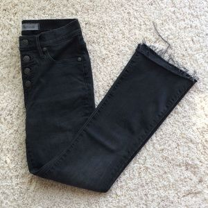 Madewell Cali Demi Boot Jean: Asymmetrical Hem